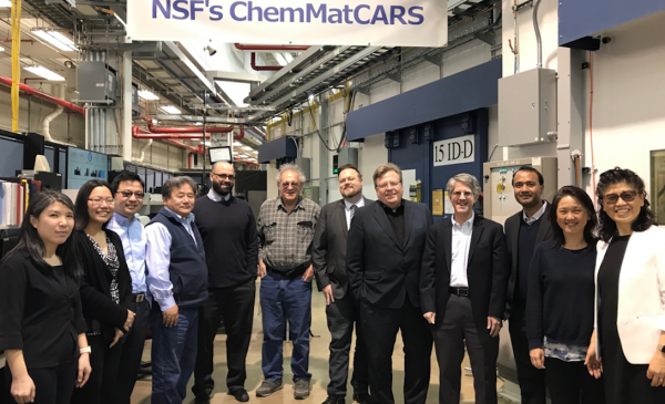 A diverse group of scientists in the NSF ChemMatCARS lab